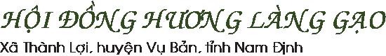 Hội Đồng Hương Làng Gạo